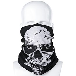 Wholesale Wholesale Red Sun Scarves - Wholesale-2016 Summer Multifunctional Skull Pattern Sun Protective Scarf Cycling Hoods Mask Outside Activity Supplies