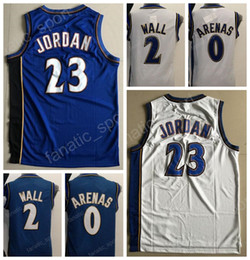 Wholesale Quality Walls - Cheap 2 John Wall Vintage Basketball Jerseys Throwback 0 Gilbert Arenas Jersey Alternate Navy Blue White All Stitched High Quality