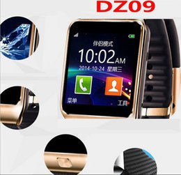 Wholesale Gps Card For Camera - A+++ Quality DZ09 Smart Watch Bluetooth Smartwatch Wrist Watches For Phone Support Camera SIM Card TF Card VS U8 GT08 A1