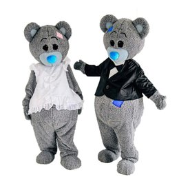 Wholesale Mascot Funny - 2017 new teddy bear Mascot Costume Costume Halloween funny animal bear Costume Adult Size
