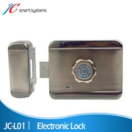Wholesale Door Locks High Security - Wholesale- High Sensitive Electronic Door Lock Mute Smart Lock With Stainless Case For Door Access Control Security