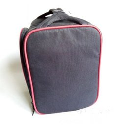 Wholesale lunch tote wholesale - Thermal Insulated Portable Cool Canvas Stripe Lunch Totes Bag Carry Case picnic lunch bag zipper bag lunch box B0162