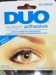Wholesale Wholesale Lash Adhesive - DUO Eye Lash Glue Clear White & black Makeup Adhesive Waterproof False Eyelashes Lady makeup tool Hot Selling DHL free shipping