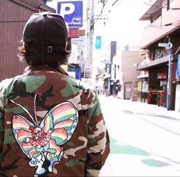 Wholesale Army Bdu - 2017 New SP Gonz Butterfly BDU Jackets Men Women Fashion Coats Camouflage Jacket Hip Hop Outerwear S~XL HFJK014