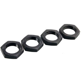 Wholesale electric adapters - RC 81212 Black Alum Wheel Hub Nuts 4PCS For HSP 1:8 Car Buggy Truck 17mm Adapter