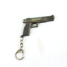 Wholesale Classic Pistols - COOL!Pistol Anti-Terrorism Equipment New Design Pendant Keychain Keyring Gift For Man Of High Quality Jewelry Free Shipping