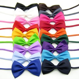 Wholesale Rabbit Grooming - Mix Colors Wholesale 50pcs lot Pet Grooming Collars Accessories Rabbit Cat Dog Bow Tie Adjustable Bowtie Multicolor Polyester & Cotton