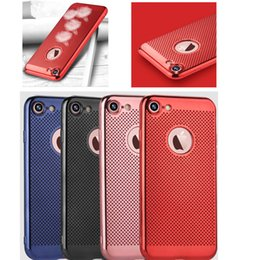 Wholesale Cool Case Designs - Electroplating Ultra Thin Case TPU Full Protection Cover With Hollowed Cooling Design For iPhone 6S 6 7 Plus Samsung S8 Plus J3 J5 J7 OppBag