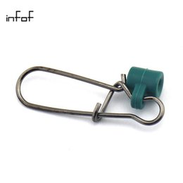 Wholesale Heavy Swivels - INFOF 100PCS lot Heavy Duty Fishing Sinker Slide Nickel Black Fish Finder Slide fishing swivels snap pesca