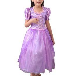 Wholesale Tassel Short Costumes - Pretty Girls Purple Dress Praty Skirt Costume For The Kids Stage Magic Fairy Ribbons Princess Dress for Children Clothing