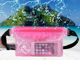 Wholesale Dry Bag Ipad - Universal Zipper Locks Waterproof Bag Dust Snowproof Pouch with Waist Strap Best Dry Bag for iPhone iPad Boating Hiking Swimming Beach