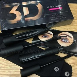 Wholesale Double Mascara - 2017 New High quality 3D FIBER LASHES Eyelash Lengthening Waterproof Lasting Double Mascara Set Makeup Eyelash 2pcs=1set