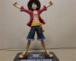 Wholesale One Piece Figure Collections - 20151045 Free Shipping Japaness Anime Cosplay One Piece Monkey Luffy Action Figures Model Collection 16cm Two Years Later Kids