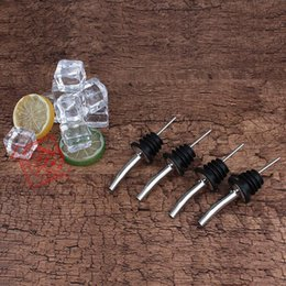 Wholesale Rubber Stopper Bottles - Liquor Spirit Pourer Flow For Wine Bottle Spout With Rubber Stopper Stainless Steel Bar Party supply Useful 1 15zy F