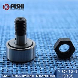 Wholesale 12mm Ball Bearings - KR32 CF12-1 Cam Followers Bearing 12mm ( 1 PC ) Stud Type Track Rollers KRV32 CF12B NAKD32 KR32PP   UU Bearings CF-12-1