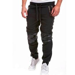 Wholesale Thick Sweatpants - Wholesale- Warm thick sweatpants Autumn winter men pants clothing male casual patch trousers baggy fleece warm pants men slim fit pants D