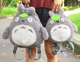 Wholesale Children Cloth Backpack - 2017NEWsuper lovely Japanese my neighbour totoro backpack, totoro parent-child backpack, cartoon school bag totoro plush backpack