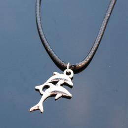 Wholesale cheap chain necklaces for men - Wholesale-N798 Shark Pendant Necklaces Bijoux Collares For Women Men Punk Dolphin Necklace Fashion Jewelry Cheap