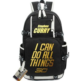 Wholesale Canvas School Bag Pack - Stephen Curry backpack Basketball star school bag Best player daypack Quality schoolbag Hot rucksack New day pack