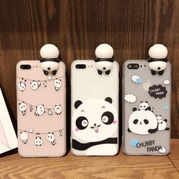 Wholesale Panda Cartoon Case - Cute cartoon panda TPU scrub phone case For iphone 7 7plus 6s 6plus 5s SE 8 8plus X Panda dolls Back Cover case