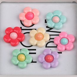 Wholesale China Wholesale Hair Flowers - 300pcs lot Resin cartoon kawayi flower flatback Scrapbooking DIY for Hair Bow accessories headwear  Frame Making Embellishments Crafts PD070