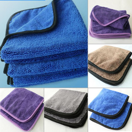 Wholesale Auto Cleaning Cloth - 16PCS LARGE MICROFIBRE CLEANING AUTO CAR DETAILING SOFT CLOTHS WASH TOWELS GREY CAR CARE POLISHING TOWELS FGK0005