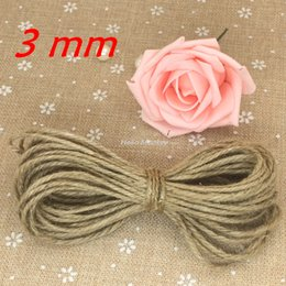 Wholesale Twine Wholesalers - Wholesale-10m 3mm Jute Twine String Natural Jute Twine DIY Supplies Gift Packing Drawstring Rustic Decor Rustic Wedding decoracion vintage
