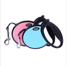 Wholesale Size Retractable Dog - Traction Rope Walking Lead Automatic Retractable Button Dog Nylon Leash for Puppy Dogs Cats Pets 2 Colors 3 Sizes length