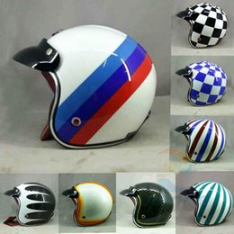Wholesale Vintage Scooter Helmet Xl - Wholesale- Hot motocross helmets (7 colors) MASEI ruby vintage helmet 3 4 Open Face Scooter Helmet Vintage Harley Jet Motorcycle Helmet