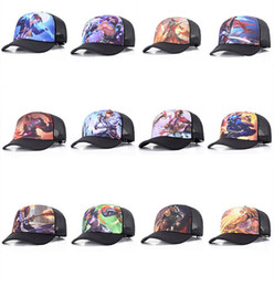 Wholesale Animation Net - king glory hat spring and summer baseball cap animation game surrounding hip hop cap middle school student shade net hat