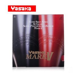 Wholesale Pingpong Blades - 2Pcs Black and Red YASAKA MARK V Table Tennis Rubber   PingPong Rubber Pimples in For Table Tennis Blade   Racket Free Shipping