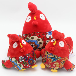 Wholesale Farm Animals Decorations - High quality Red chicken plush doll cute chicken stuffed toys for children's toys interior decoration holiday gifts
