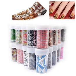 Wholesale Decal Transfer Paper - 4*100cm Nail Art Sticker Decals Paper Nail Transfer Foils DIY Polish Beauty Creative Designs Nail Decoration Tools