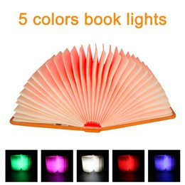 Wholesale Birthday Book - New Products Contemporary Table Lamps 360 Degree Fold Magic Color 5 Color LED Book Light children's Birthday Gift Portable Lanterns