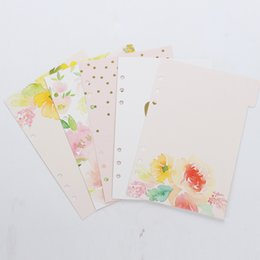 Wholesale Spiral Notebook A5 - Wholesale- New cute spring series spiral notebook divider,original creative index paper separator page for diary planner,A5 A6