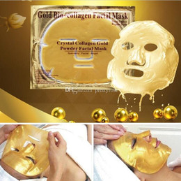 Pas cher en gros or bio-collagène masque facial masque cristal poudre d'or collagène masque facial hydratant anti-vieillissement 24 k or masques ? partir de fabricateur