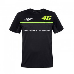 Wholesale Bike Sizes For Men - Free Shipping 2017 Sports Bike Motorcycle Riding Fashion Wicking T-shirt For yamaha Valentino Rossi VR46 T shirt 46 the doctor