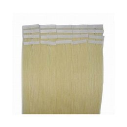 Wholesale Blonde Glue Hair Extensions - 50g 20pcs 25pcs Glue Skin Weft PU Tape in Human Hair extensions 18 20 22 24inch Brazilian Indian hair extension