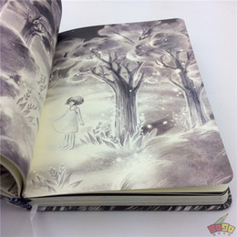 Wholesale Notepad Designs - Wholesale- Notebook paper book thicken artistic 32K diary memos hard copybook color plates printing Collection Notepad design Textbook XM