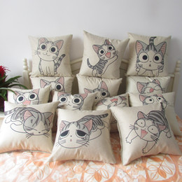 Wholesale Chi Balls - Wholesale- 1pcs 45*45cm chi`s sweet home cheese cat pillow of small, private, sweet cat rice ball stuffed cat pillow cushion for leaning