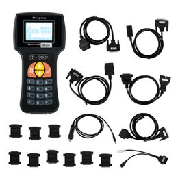 Wholesale Tool Key Coding Programming - T300 Auto Key Programming Tool T-code T300 Transponder Key Programmer Latest Version V16.8 English and Spanish Version with Black Color