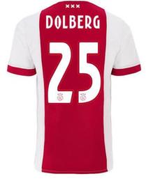 Wholesale Discount Black Uniforms - Discount Cheap Customized Name Number Dolberg #25 Thai Quality Soccer Jerseys,Huntelaar #9 Soccer Wear tops,Ziyech #22 Football Uniforms