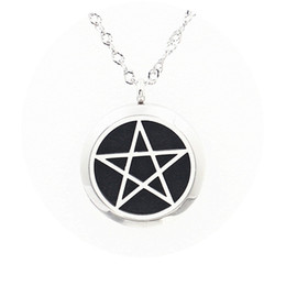 """Wholesale Premium Heart - Premium Aromatherapy Essential Oil Diffuser Necklace Locket Pendant,Star of David Charm 316L Stainless Steel Jewelry with 20"""" Chain Pads"""