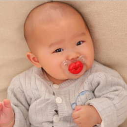 Wholesale infant pig - Interest creative silicone pacifier funny nipple teat red lips pig snout infant soother safe quality baby funny pacifier