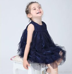 Wholesale Irregular Hem Skirt - Brand New Girl Princess Dress Child Harness Vest Skirt Sleeveless Solid Color Net Yarn Fold Irregular Hem