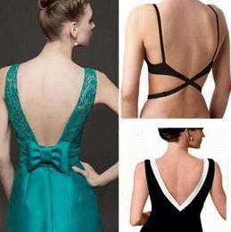 Wholesale Fully Dress - Low Back Bra Straps Converter Sexy Fashion Bra Belt for Low-back Dresses Backless Fully Adjustable Bra Extenders Hook Dress Belt