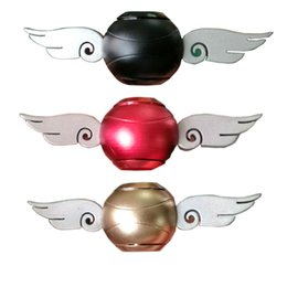 Wholesale magic wing - Snitch Harry Potter Fidget Spinner Copper Round Magic Hand Spinner Metal EDC Finger Toys Red Golden Black Two Wings EDC Tool Toys