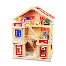 Wholesale Wooden Model Building For Kids - Onshine DIY Wooden Pretend Play House Furniture Kit for Kids Girls Wooden House Furniture Handcraft Miniature Box Kit House Model
