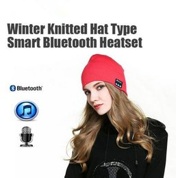Wholesale Wholesale Colorful Hats - Colorful Bluetooth Music Soft Warm Hat With Stereo Headset Speaker Wireless Hands-free Cap with OPP Package
