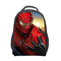Wholesale cool spider - Super cool! Promotions 2016 New Design Spiderman 3D Children Boy's Backpack,Fashion Cartoon Spider-man School Bag 4 designs
